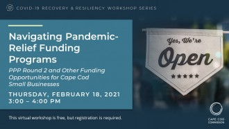 Navigating Pandemic-Relief Funding Programs Graphic